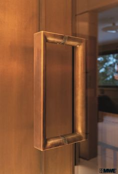 A lovely door pull from MWE that invites the eye to complete the loop.