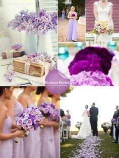 Radiant Orchid #radiantorchid #springwedding #pantoneweddings