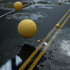 Cinema 4D – Realistic Asphalt Puddles with Octane Render Tutorial
