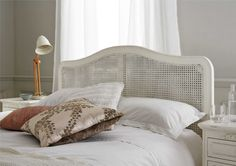 Wicker Headboard For Natural Headboard Ideas: Rattan White Wicker Headboard Idea
