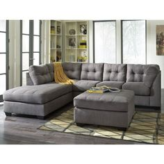 Great sectional on sale today! - http://www.localfurnitureoutlet.com/ashley-furniture-maier-sectional-in-charcoal.html?___SID=U