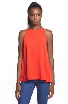 Topshop 'Milo' Split Back Sleeveless Top available at #Nordstrom