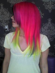 Neon hair wow