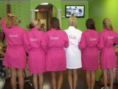 Bridesmaid Gifts / Personalized Robes « David Tutera Wedding Blog • It's a Bride's Life • Real Brides Blogging til I do!
