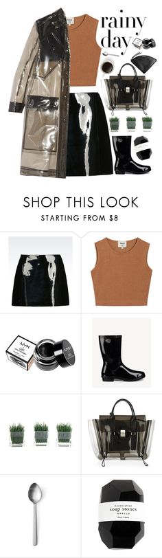 """RAINY DAYS"" by evangeline-lily ❤ liked on Polyvore featuring Emporio Armani, Samuji, NYX, UGG, 3.1 Phillip Lim, Menu, Cassia, Skagen and rainydayoutfit"