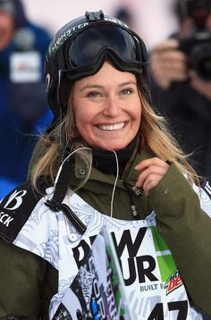 Slopestyle snowboarder Jaime Anderson catches big air and hugs trees to center herself before competing. We love this Nor Cal gal! #olympics