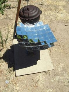 Unfortunately cannot find the site this images comes from - but another great way to hack a solar cooker!