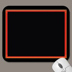 Red frame mouse pad by ccrcats.