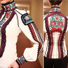Embroidery Fashion, Embroidery Dress, Ethnic Fashion, Colorful Fashion, Différents Styles, Ethno Style, Embroidered Clothes, Fashion Outfits, Womens Fashion