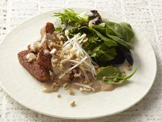 Pan-Seared Tempeh with Peanut Sauce Recipe : Food Network Kitchens : Food Network - FoodNetwork.com