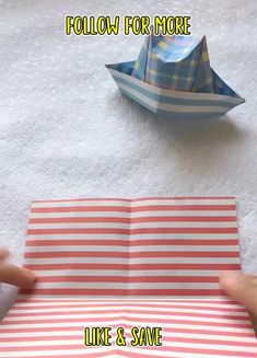 Handmade Crafts, Diy And Crafts, Crafts For Kids, Arts And Crafts, Origami Folding, Origami Box, Diy House Projects, Cool Diy Projects, Diy Videos