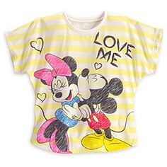 Minnie and Mickey Mouse ''Love Me'' Tee for Women