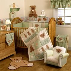 teddy-bear-baby-nursery   im in love! i would change the wood furniture to a super dark brown tho!