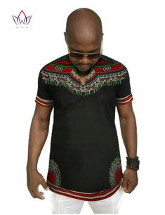 Men's African Print Short Sleeve Dashiki