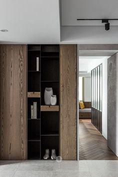 Home Interior, Modern Interior, Interior Design, Architecture Restaurant, Interior Architecture, Shelf Design, Cabinet Design, Living Room Designs, Living Room Decor