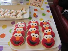 "Elmo/Sesame Street 2nd Birthday Idea. Love. Notice the ""C"" is for Cookie care :)"