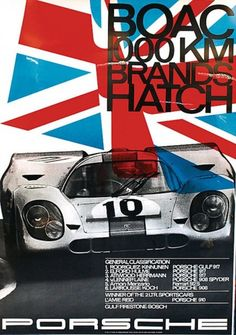 that911:    I want to make a mancave and find all of these old Porsche posters and put them everywhere!  sixtyflattofinish:    Brands Hatch 1000km 1970        SICK.  Haven't seen this one before.