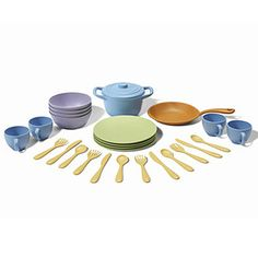 Green Toys - Cookware and Dining Set - Pretend Play - Cotton Babies Cloth Diaper Store #CottonBabies #cbfavoritethings
