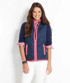 Whale Chevron Embroidered Vest $158