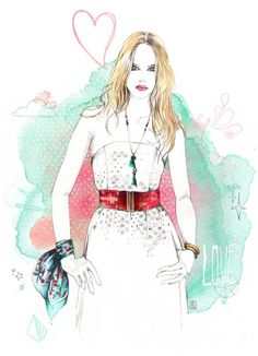 Lutheen  - Fashion Illustrations by Lutheen  <3 <3