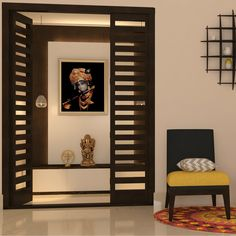 52 new Ideas for simple pooja door design Pooja Room Door Design, Home Room Design, House Design, Design Design, Temple Design For Home, Room Interior, Interior Design, Kitchen Interior, Interior Ideas