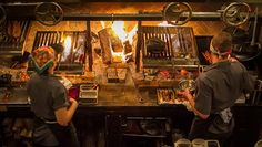 The Grill Works Argentine-style wood fired grill.
