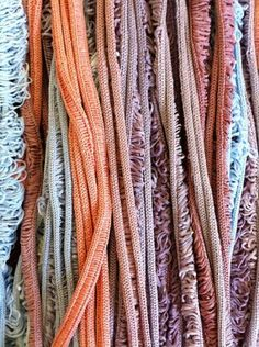 Sarah Mazza, dyed laddered strands