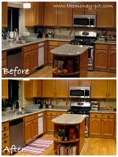 Kasey Iust An Example Of How To Use Multiple Styles Of Hardware. I Suppose  If · Updating Kitchen CabinetsOak ...