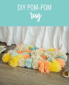 DIY Pom-Pom Rug | Babble