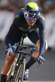 #TDF2016 Alejandro Valverde of Spain and Movistar Team in action during stage 18 of the Tour de France 2016 a time trial of 17km between Sallanches and Megeve...