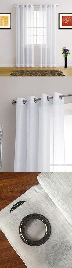 Pairs of Savoy Voile Net Curtain Holdbacks Tiebacks Satin Steel