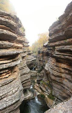 Serbia, Canyon of river Rosovaca. Srbija.