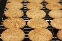Skinny Whole Wheat Snickerdoodle Cookies.only 50 calories ww point per cookie) and super yummy! Can& even tell they are healthier for you! Healthy Desserts, Delicious Desserts, Dessert Recipes, Yummy Food, Ww Desserts, Healthy Recipes, Yummy Treats, Sweet Treats, Cookies Et Biscuits