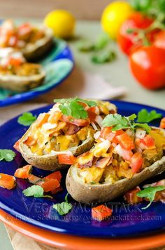 Mexican Twice Baked Potatoes  |  Vegan Yack Attack  |  V