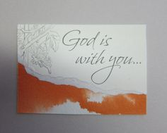 God is with you ACEO original watercolor by watercolorsNmore, $4.75