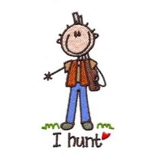Busy Hunt Stick - 4x4 | Camping | Machine Embroidery Designs | SWAKembroidery.com Too Cute Embroidery