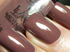 "opi ""wooden shoe like to know"" - warm taupe with pink/gold shimmer"
