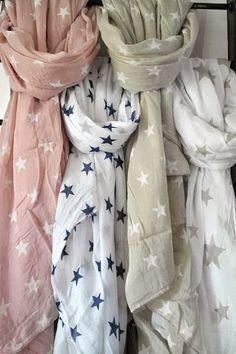 ღ star scarf All Fashion, Spring Fashion, Womens Fashion, Ladies Fashion, Scarf Styles, Womens Scarves, Star Wars, What To Wear, Style Me