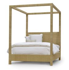 WOODSIDE CANOPY BED seagrass rope | PALECEK