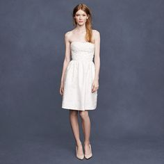 if you would ever wear a strapless dress this should be it. i die! (jcrew) @Catalina Nietz