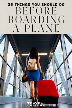 Air travel can be stressful, so we've rounded up 25 things you should do before your next flight so you can relax.#airplanes #flights #flighttips #travelandleisure