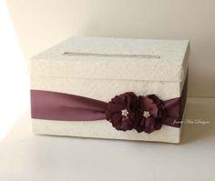 Laced Wedding Card Box Money Card Box Wishing by jamiekimdesigns, $94.00