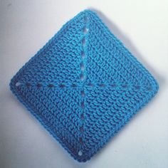 In a Spin Block 1 (Block 2 is a striped version) - Free crochet pattern by Shelley Husband.