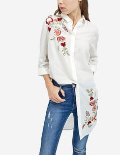 4d042660aa76 Μακρύ πουκάμισο με κέντημα - Πουκαμισα