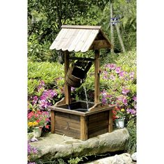HGC Wishing Well Outdoor Fountain | from hayneedle.com