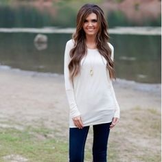 White Dolman Top White Dolman Top. Never worn. Size medium. Last photo is a stock photo for fit reference. Tops Tunics