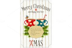Christmas card by elfivetrov on @creativemarket