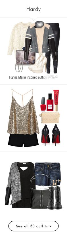 """""""Hardy"""" by begley-623 ❤ liked on Polyvore featuring Gestuz, STELLA McCARTNEY, Coast, ALDO, Nyla Star, Christian Louboutin, Rebecca Minkoff, OPI, Too Faced Cosmetics and Diana Vreeland Parfums"""