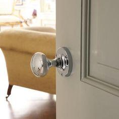 Find stylish cabinet handles at Howdens. Internal Door Handles, Chrome Door Handles, Internal Doors, Interior Door Knobs, Interior Paint, Interior Design, Victorian Door, Fire Doors, Black Doors
