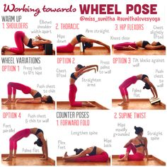 Yoga tutorial on working towards wheel pose (urdhva dhanurasana / chakrasana) @miss_sunitha #sunithalovesyoga